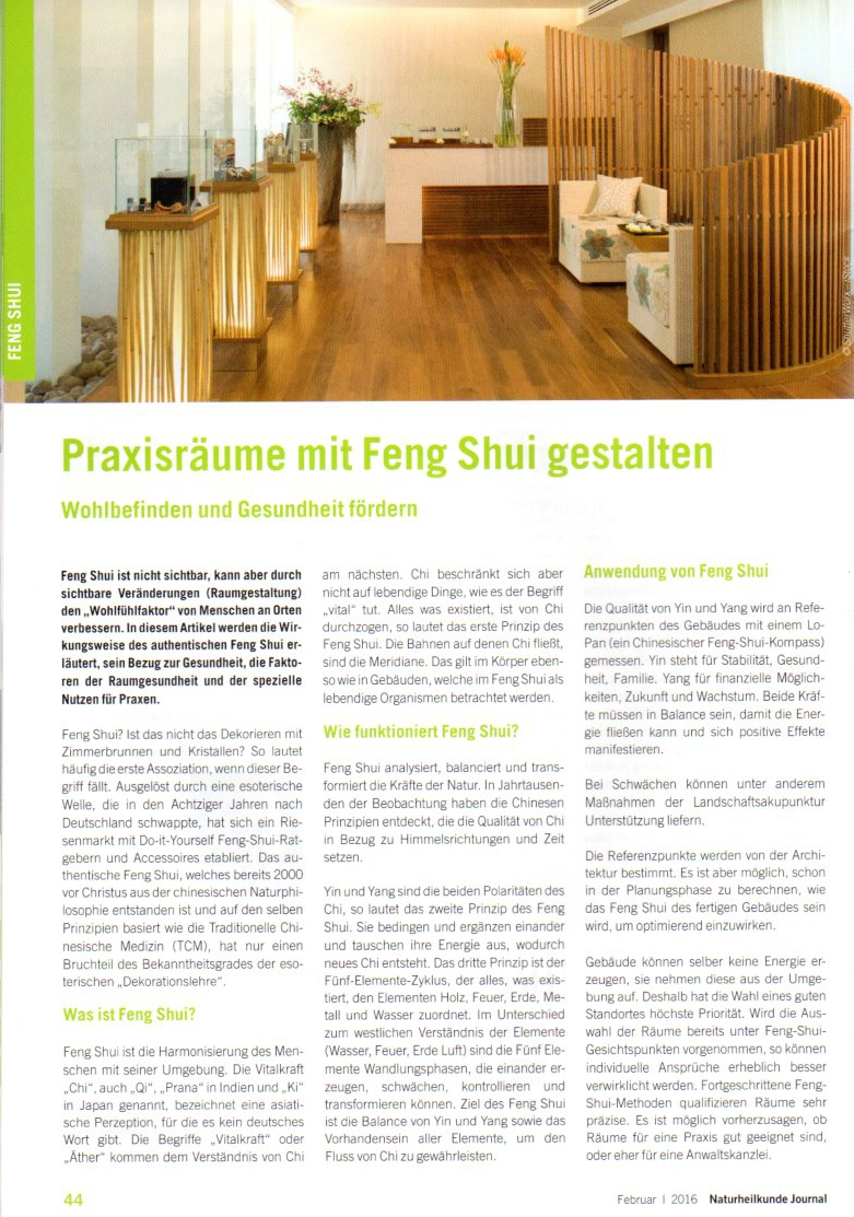 presse medien berichte ber feng shui flow. Black Bedroom Furniture Sets. Home Design Ideas